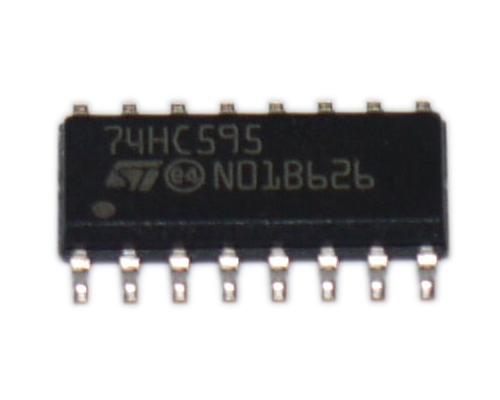74HC595D 74HC595 IC digitale 8-Bit shift register SOIC 16 SMD