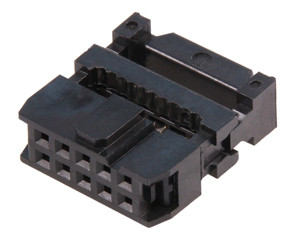 Idc 10 Pin Mounting Socket For Connector Ribbon Flat Cable