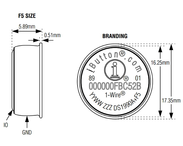 electronic ibutton ds1990a