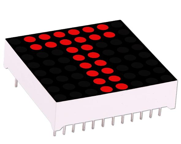 LED Dot Matrix 3mm 8x8 Display Red Common Cathode Module Arduino Raspberry