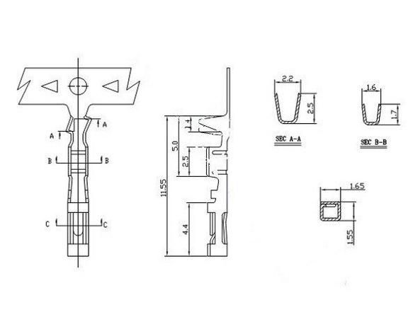 10 st u00fcck crimpkontakte f u00fcr pinheader raster 2 54mm buchse