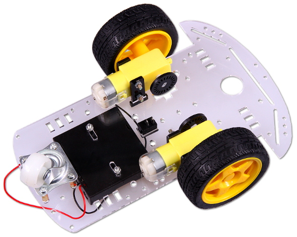 Wd motor smart robot car chassis kit arduino encoder