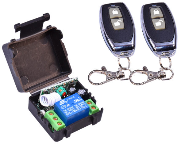2x t l commande relais 12v 433mhz metteur r cepteur for Emetteur porte garage