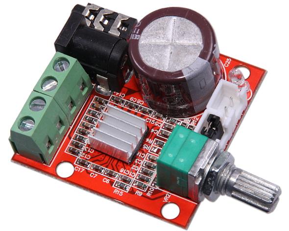 2x10W Dual Channel HIFI Mini Audio Amplifier PAM8610 Amplificador 12V
